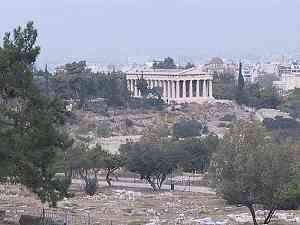 View from the acropolis of the Panathenaic Way