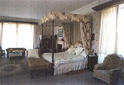 The victorian bedroom at Hammerwood Park